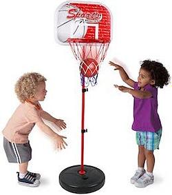 infant basketball hoop Kiddie Play Basketball Hoop Stand Toy Set