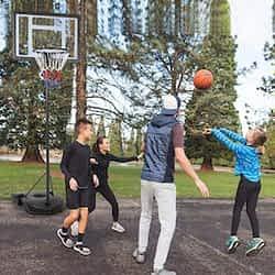 preschool basketball hoops Yaheetech 7.2 - 9.2ft Basketball System