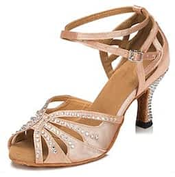salsa dance shoes TT Dancewear Rhinestone Shoes