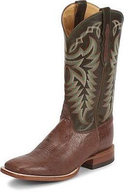 Justin Men's Ostrich Cowboy Boots
