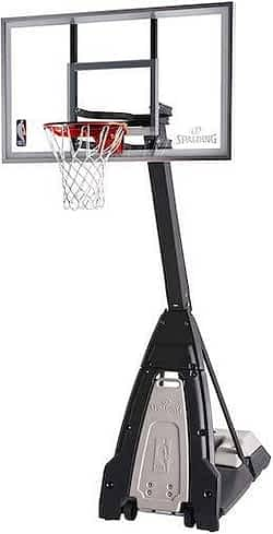 portable basketball hoop review Spalding The Beast Glass Portable Hoop