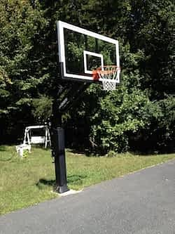 Pro Dunk Platinum 72 Inch Glass Backboard best inground basketball systems