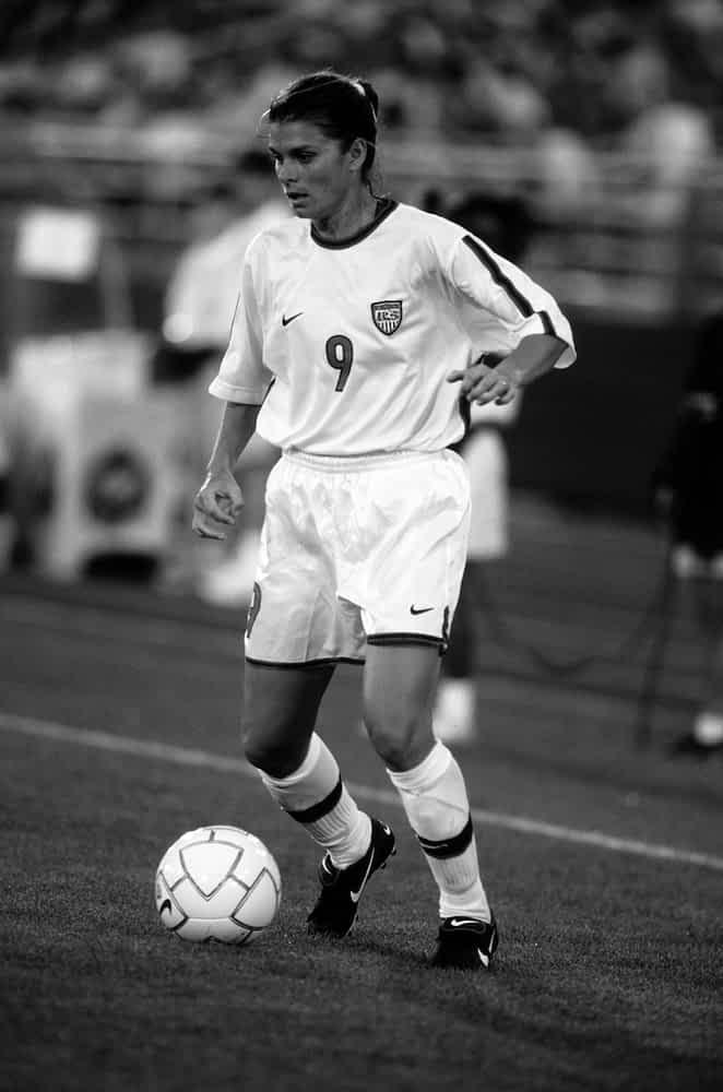 Mia Hamm soccer caps