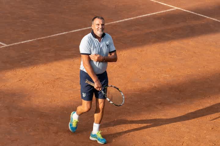 Marco Tardelli playing tennis