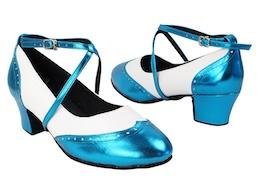 slide and swing shoes Swing001C 135 Metallic Blue Model By Very Fine Dancesport Shoes